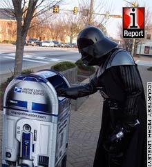 Darth Vader meets an R2-D2 mailbox