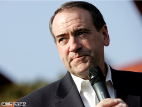 Huckabee is campaigning in Texas prior to the state's March 4 primary.