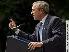 While Bush is the only major candidate seeking the 2004 GOP nomination, he cannot officially become the nominee until this summer.